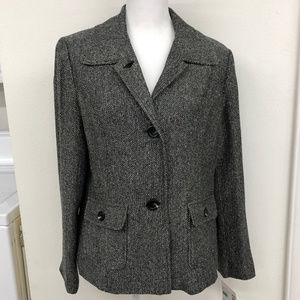 NWT Sag Harbor Black & White Lined Jacket
